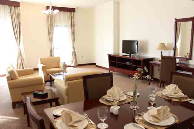 2-Bedroom Apartment - dining and living room