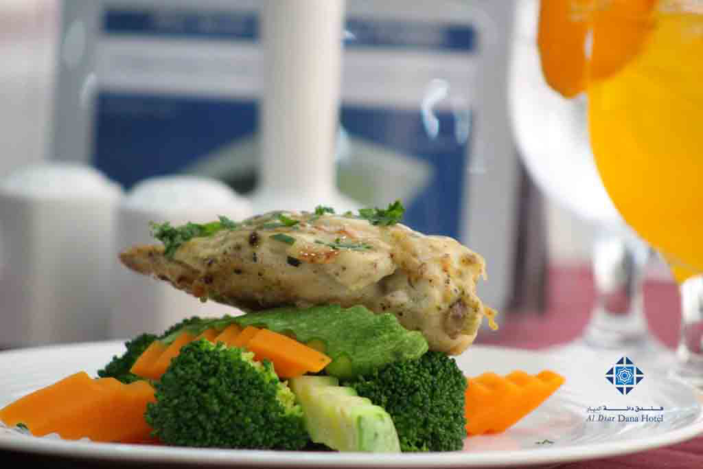Stuffed chicken with peanut butter sauce