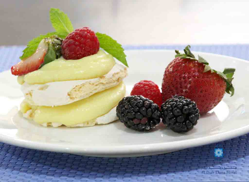 Three Berry Pavlova