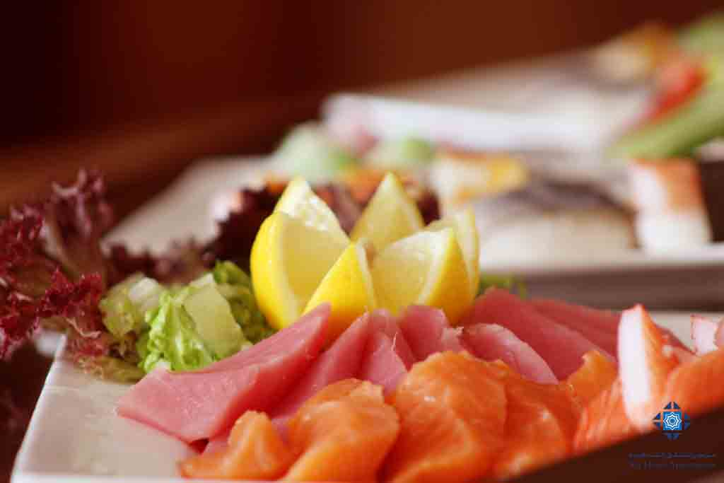 Sashimi at Faseel Restaurant