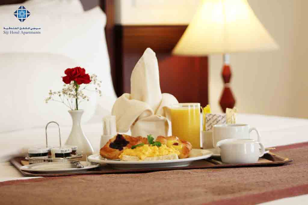 Room service - Breakfast on bed