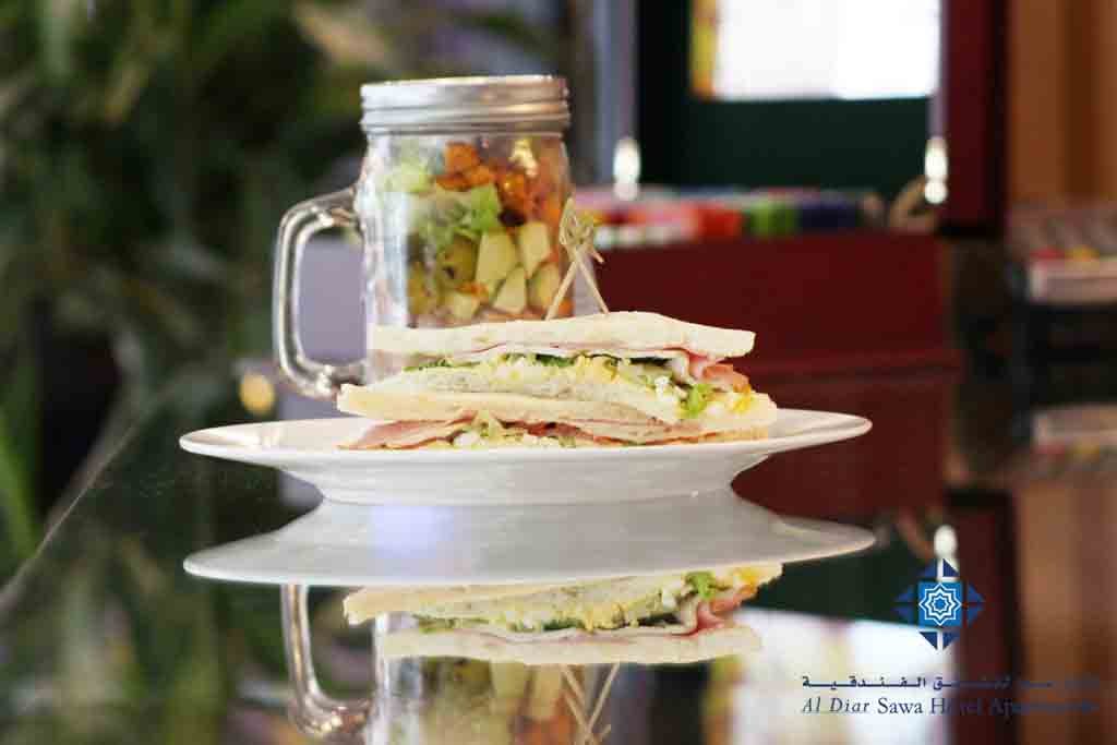 Sandwich and salad at Cafe Day to Day