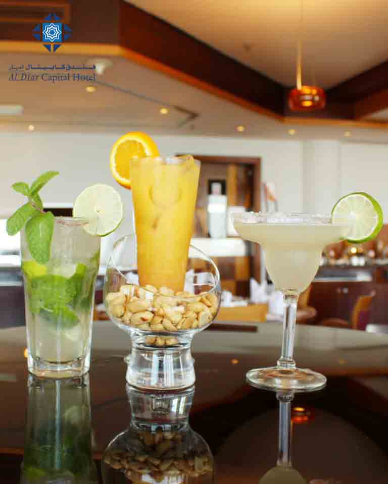 Mojito, Tequila sunrise and Margarita at Panorama Restaurant