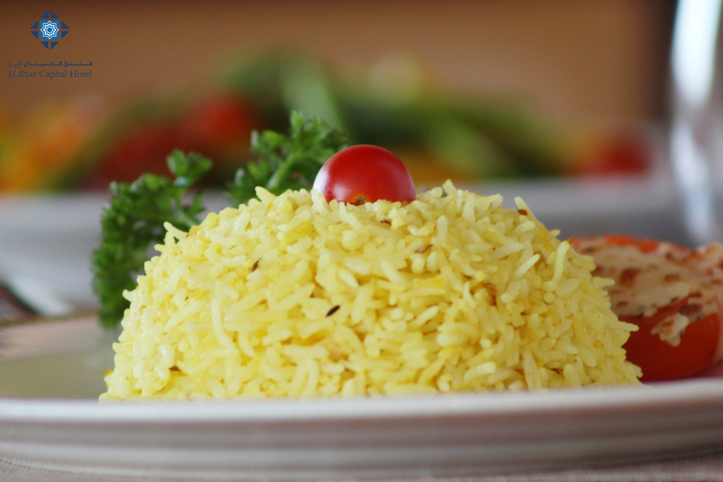 Saffron rice at Panorama Restaurant