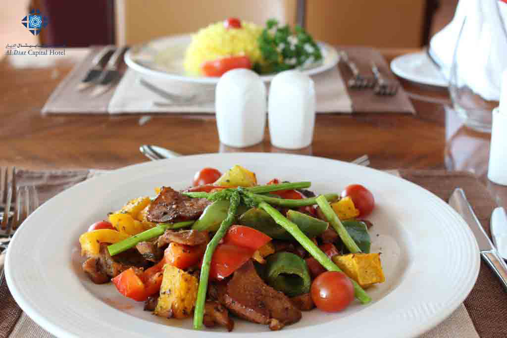 Stir fried beef at Panorama Restaurant