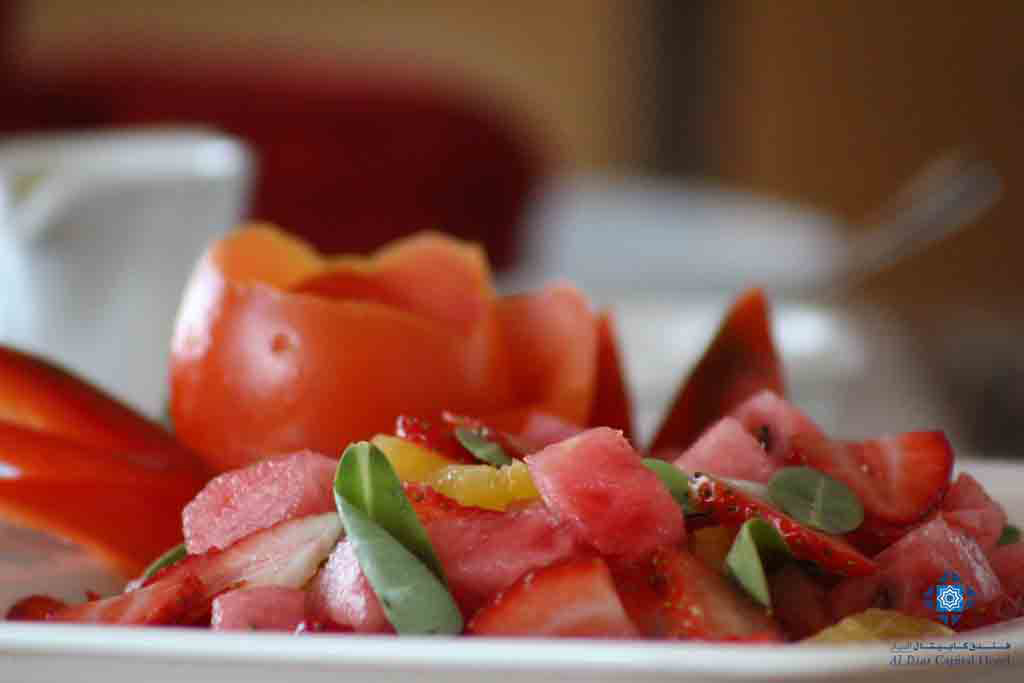 Watermelon and strawberry salad at Panorama Restaurant